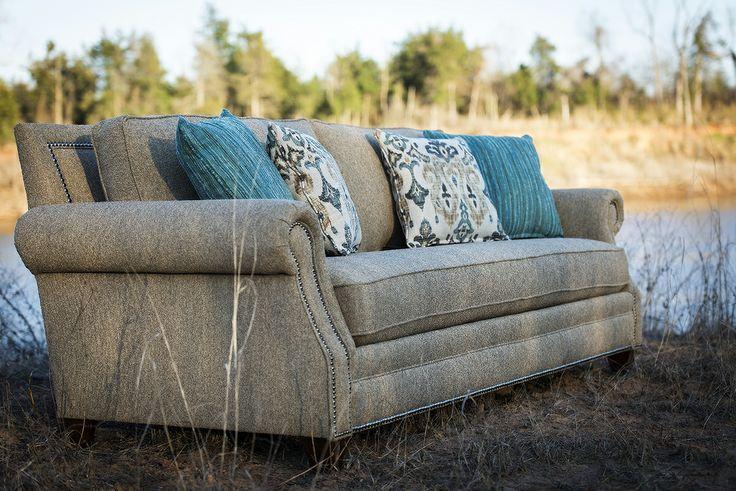 Mayo Furniture 7240F Fabric Sofa - Baird Flax
