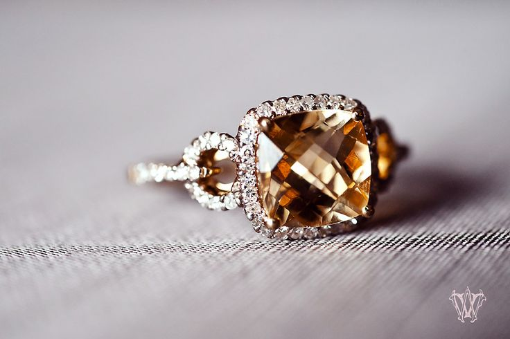 Citrine & diamond ring.  So elegant and unique.