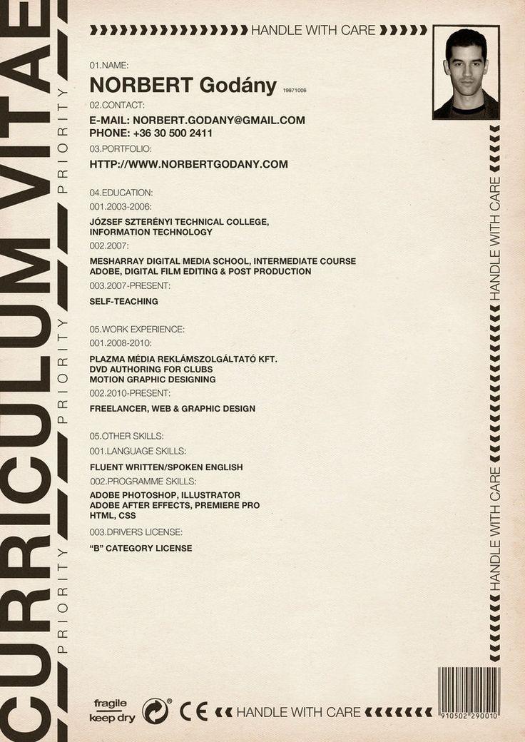 Curriculum Vitae by on DeviantArt
