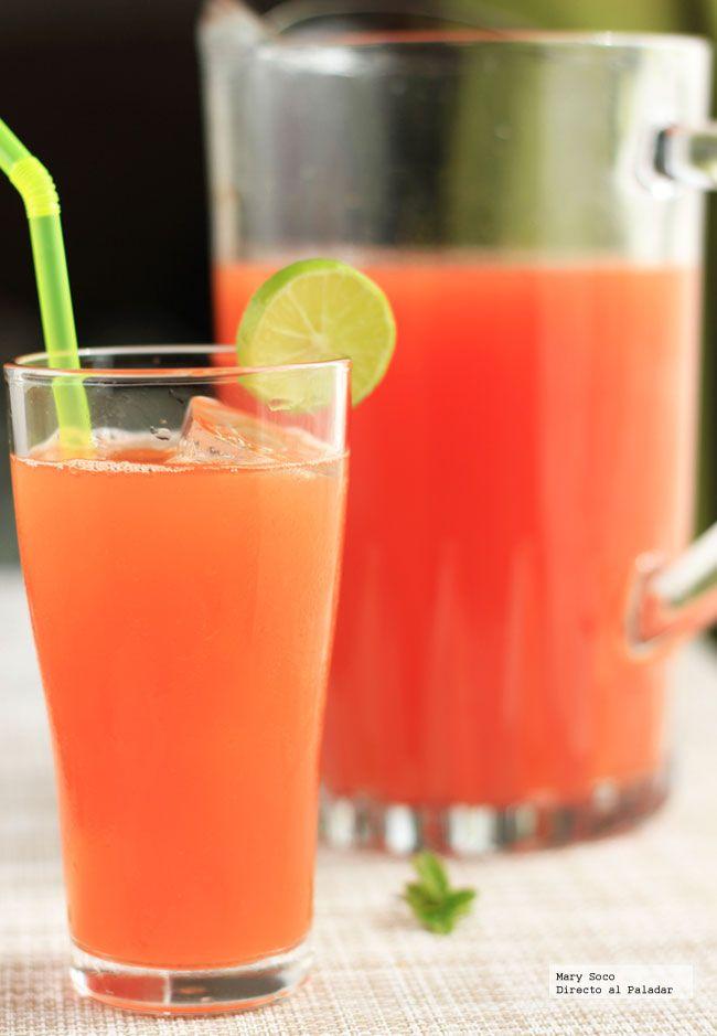 Receta de agua fresca de papaya y limón. Con fotografías paso a paso, consejos y sugerencias de degustación. Recetas de agua fresca...