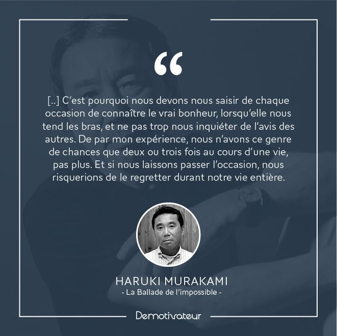 """Haruki Murakami """"La ballade de l'impossible"""""""