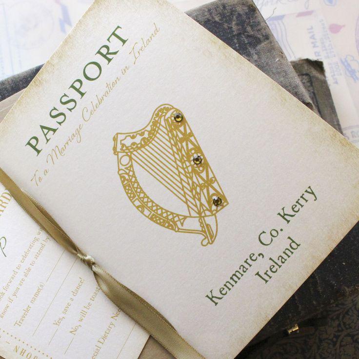 funny wedding invitation mail%0A Ireland Passport Wedding Invitation