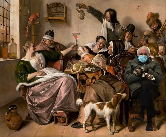 Bernie Sanders Mittens Memes Inauguration In 2021 Young Art Painting Art