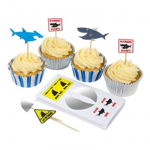 Shark Cupcake Kit By Meri Meri