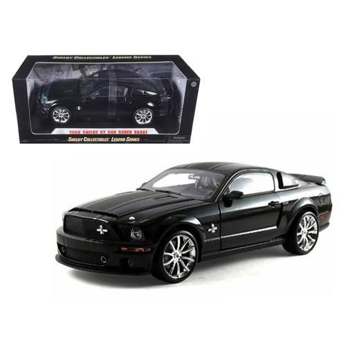 2008 Ford Shelby Mustang GT 500 Super Snake Black 1/18 Diecast Model Car by Shelby Collectibles