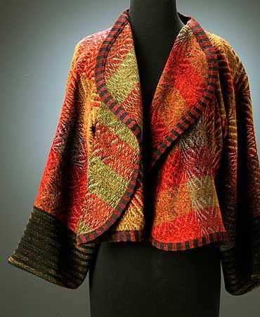 On Approval - Bellagio - Art to Wear Gallery, Asheville, North Carolina  - like the stripe binding