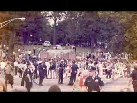 "Images of Elvis' funeral (Elvis singing ""It's Over"") via youtube."