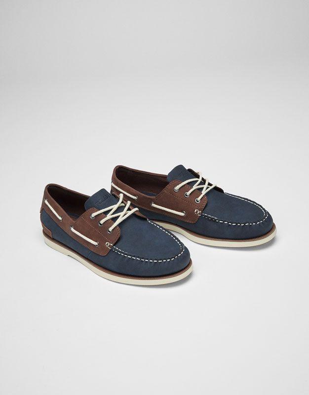 Naútico azul y marrón - Ver todo - Zapatos - Hombre - PULL&BEAR Colombia