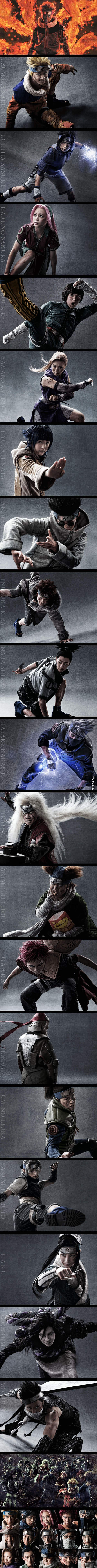 Cast Visuals Of Naruto Live-Action Naruto Stage Play. I am so unsure how to feel about this....