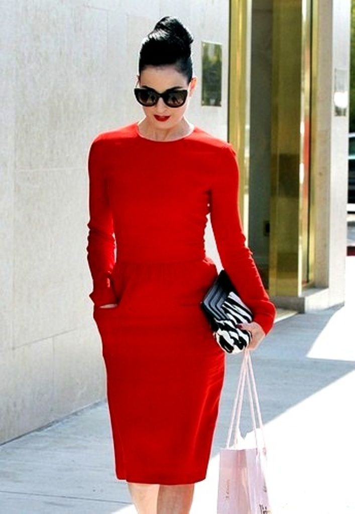 Coco Chanel Paradise Red Dress Summer Street Style