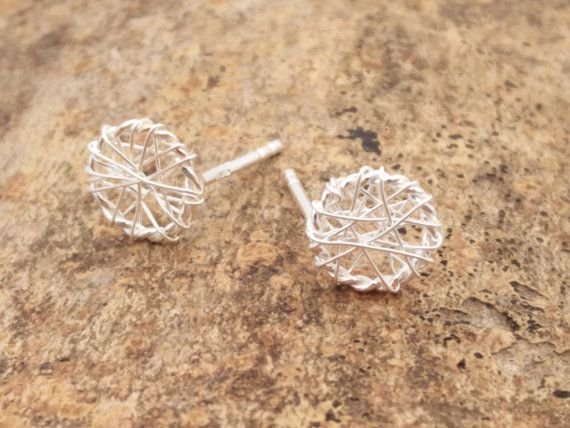 Silver Dream Catcher Earrings in Sterling Silver by ShopZYLA