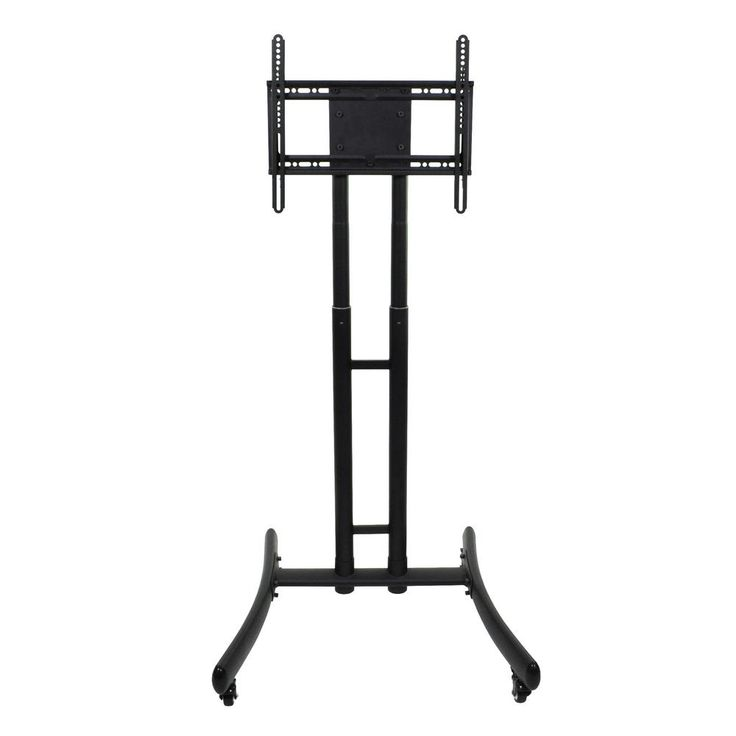 FP1000 - Height Adjustable Rolling TV Stand, Black