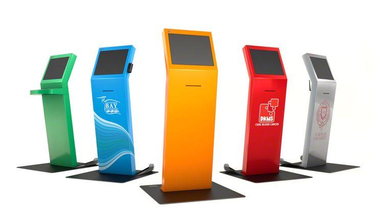The fully customize-able Freestanding kiosk available in over ten powder-coated colors #freestandingkiosk #customkiosk #informationkiosk #wayfindingkiosk