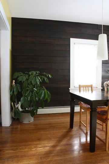 Emily's Shiplap Wall Dining Room