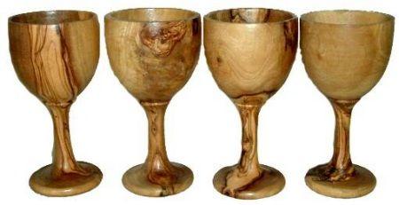 Olive Wood Wine Glasses   wood