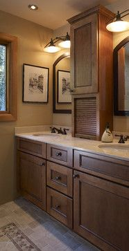 Double Sink Vanity Bathroom Design Ideas, Pictures, Remodel, and Decor