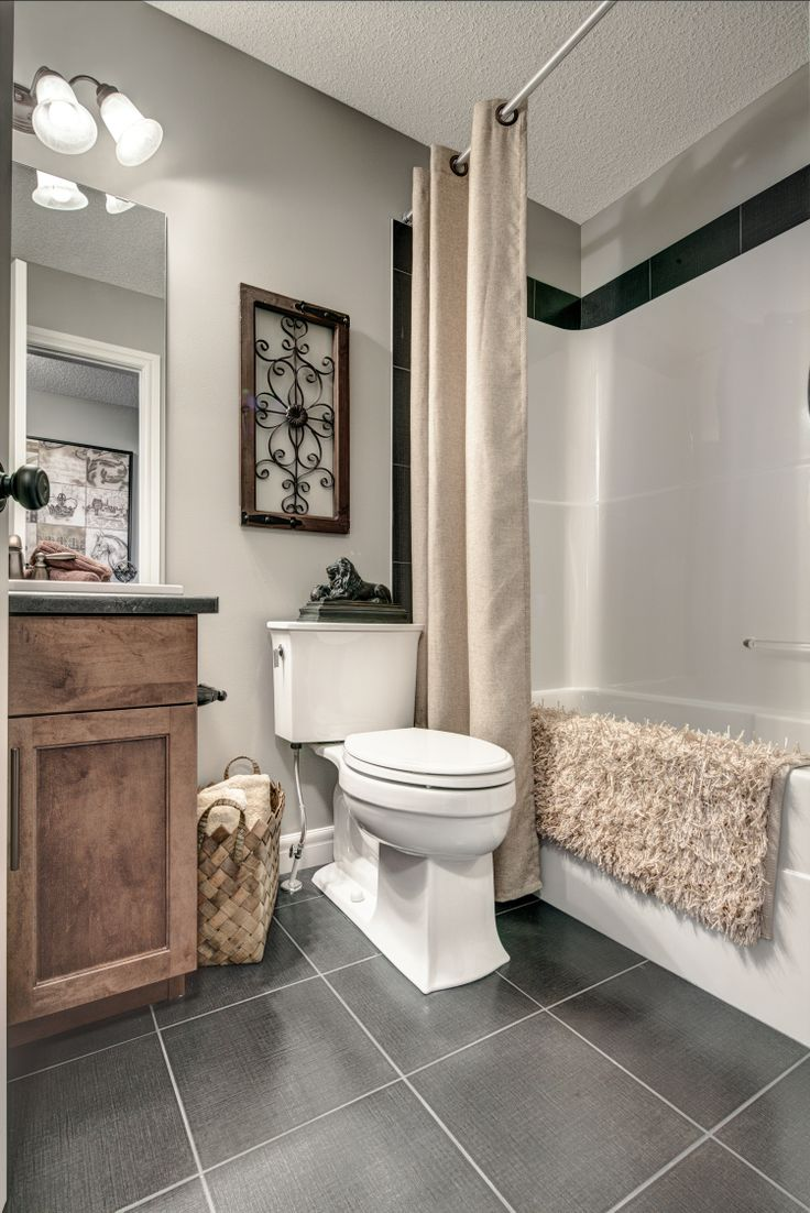 The main bath on the second level is perfect for the kids or your guests.