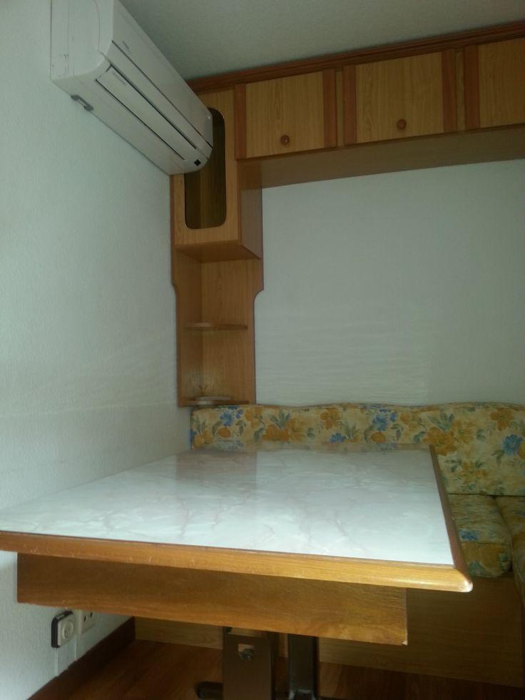 Aire acondicionado/calefacción de nuestros mobilhomes. 60 euros por noche Quincenas, mes, etc. posibilidad de descuento según temporada.