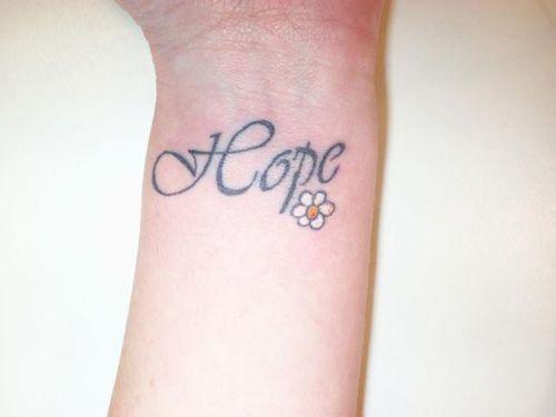 Hope Tattoos for Girls | Cute girl wrist tattoos – Hope