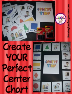 Use a poster board, Velcro, and this pack to create the BEST center chart for your classroom!