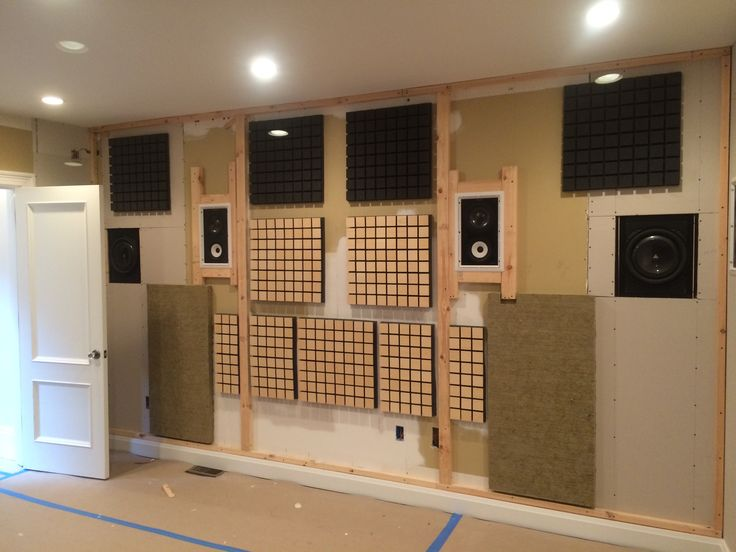 Wonderful Acoustic Treatment On This Back Bay Boston Home Theater, To Be Covered In  Our Fabric