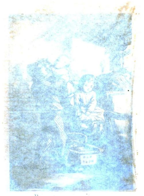 Illustration photographed through tissue. The frontispiece to Dotty Dimple Out West by Sophie May (1869). Original from Harvard University. Digitized March 25, 2008.