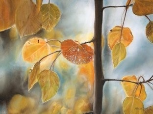 one of my own paintings- entitled 'Segue'  Original available.