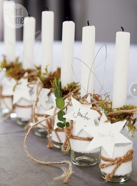 ... y un poco de diseño: 10 ideas fáciles y baratas para poner la mesa en Navidad