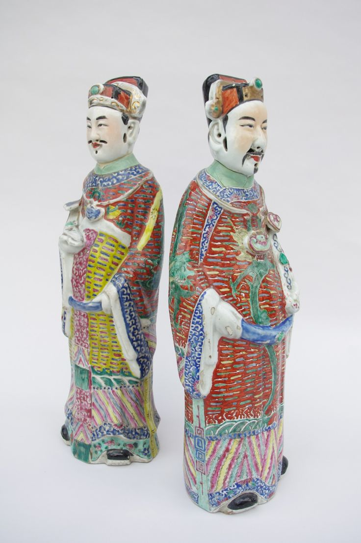 Pair of Chinese faience figures circa 1900
