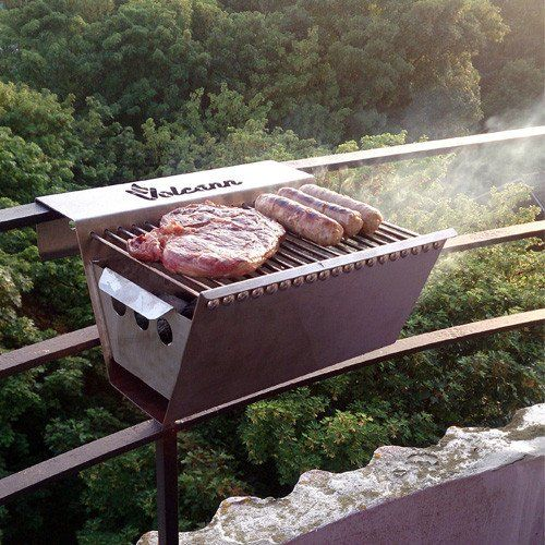 Volcann Balcony Hanging Stainless Steel BBQ Grill