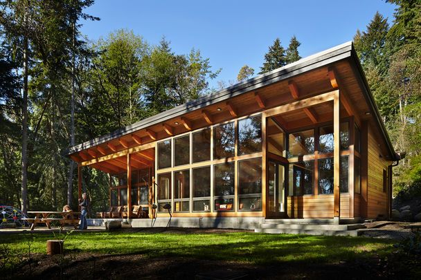 Modern cabin features 2 bedrooms and 3 baths in 1750 square feet | The Seattle Times