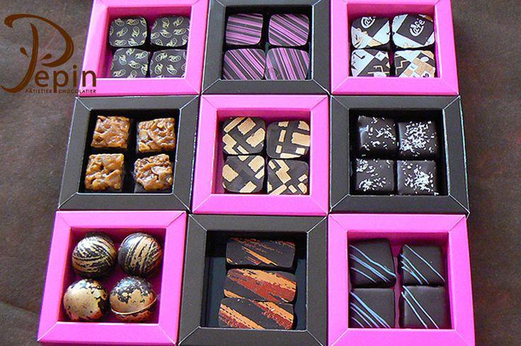 Bonbons de la pâtisserie chocolaterie Pépin à Lyon