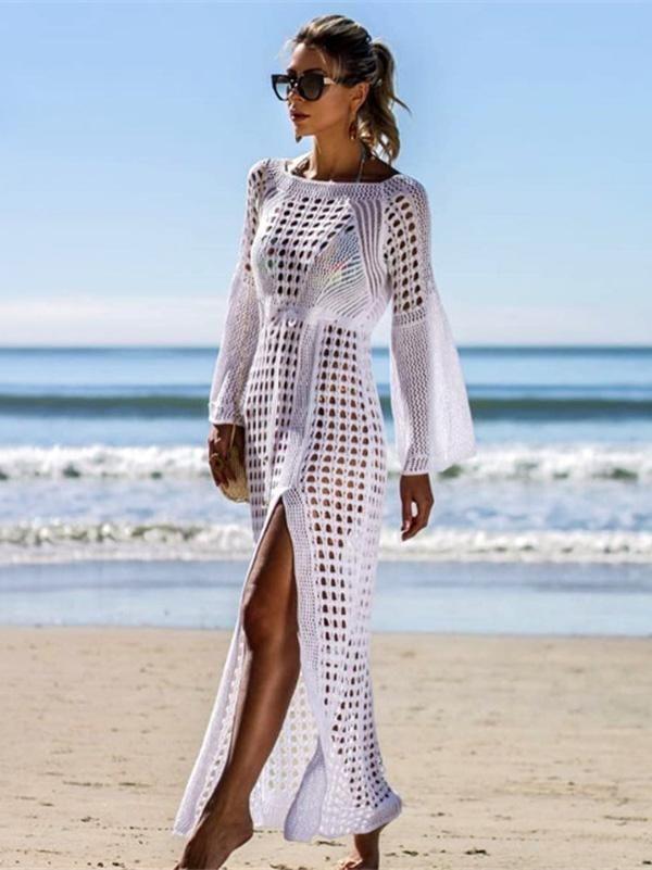 dc6b09b6cc Sexy Empire Hollow Swimwear Cover-ups in 2019 | boho | Beach dresses ...