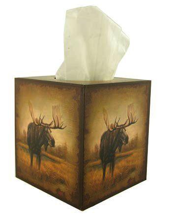 Rustic Moose Tissue Cover
