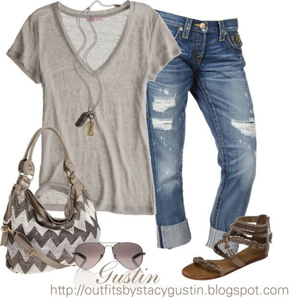 Need a long, pendent style necklace to pull together these kinds of outfits. Also need another pair of boyfriend jeans and some basic t-shirts in neutral colors.