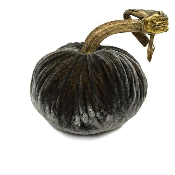 Plush Smokey Topaz Large Velvet Pumpkin (£52) ❤ liked on Polyvore featuring home, home decor and pumpkin home decor