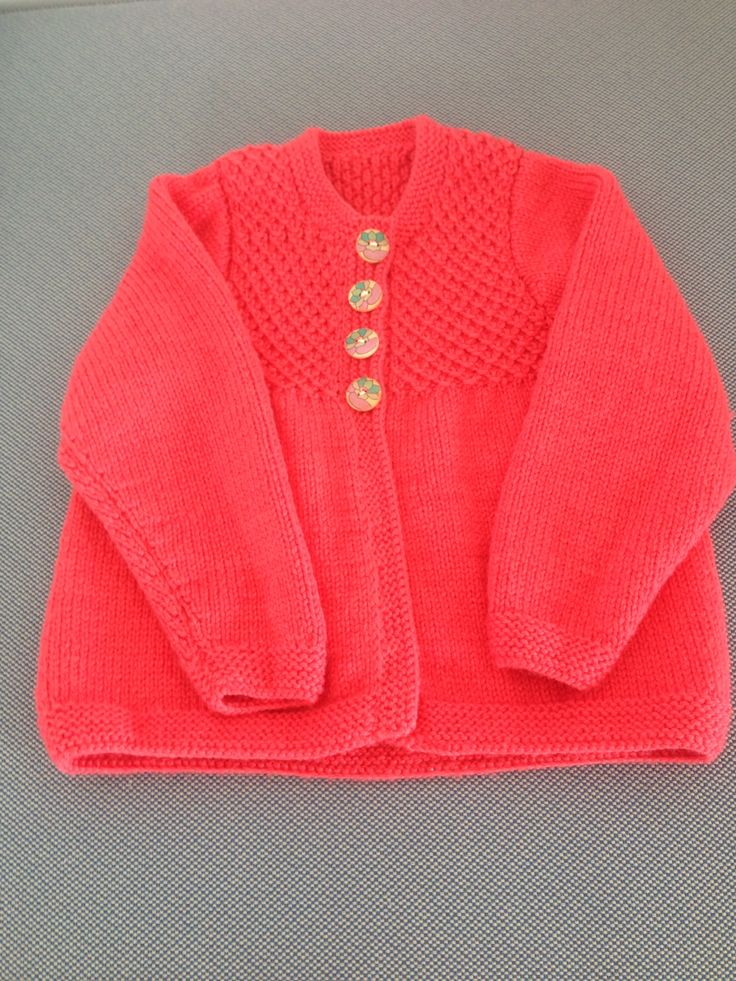 Smocked cardigan from ravelry.com
