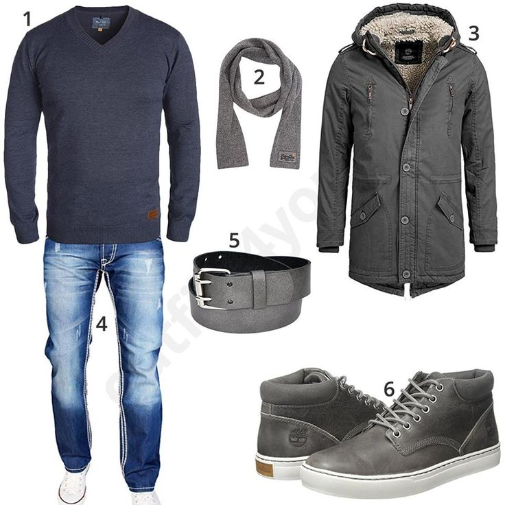 Graues Winteroutfit mit lässiger Jeans (m0788) #outfit #style #fashion #ootd #männer #herren #outfit2017 #outfit #style #fashion #menswear #mensfashion #inspiration #menstyle #inspiration