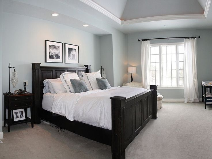 Traditional Master Bedroom with Crown molding, Carpet, Pottery Barn Branford Bed, Shaw Carpet - Beige, High ceiling