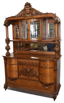 19th Century American Oak Sideboard by RJ Horner victorian-buffets-and-sideboards