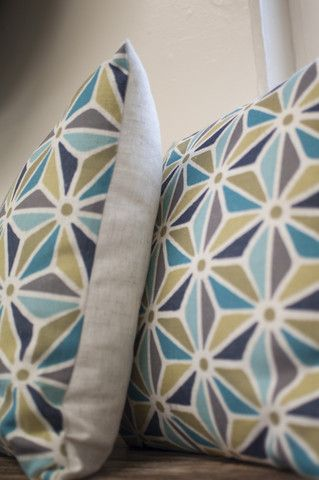 Madras Link Marbella Tile Blue Cushion 45cm