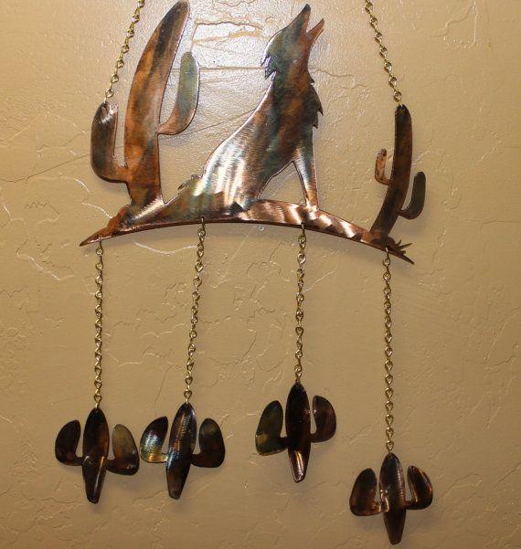 Howling Coyote Southwestern Wind Chime by HEAVENSGATEMETALWORK, $29.99