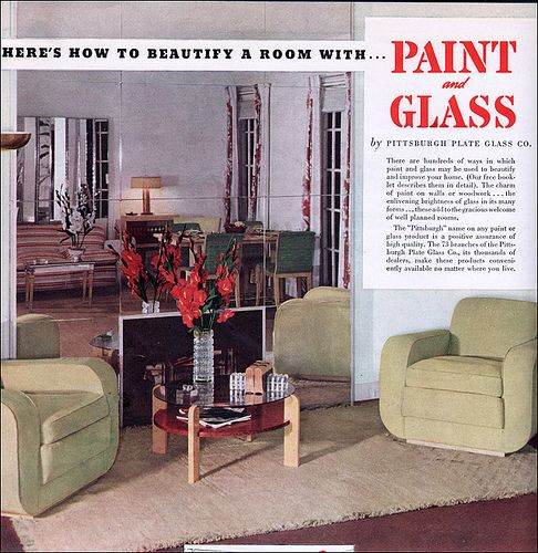 1937 Pittsburgh Paint U0026 Glass   Deco Living Room