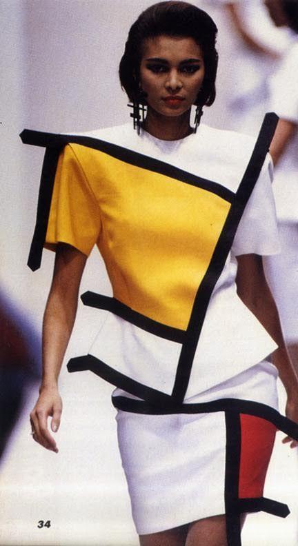 Isabel Eberstadt models a YSL Mondrian dress, A/W 1965. Photography: Frederick Eberstadt.