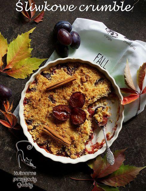Kulinarne przygody Gatity: Śliwkowe crubmle, czyli owoce pod kruszonką