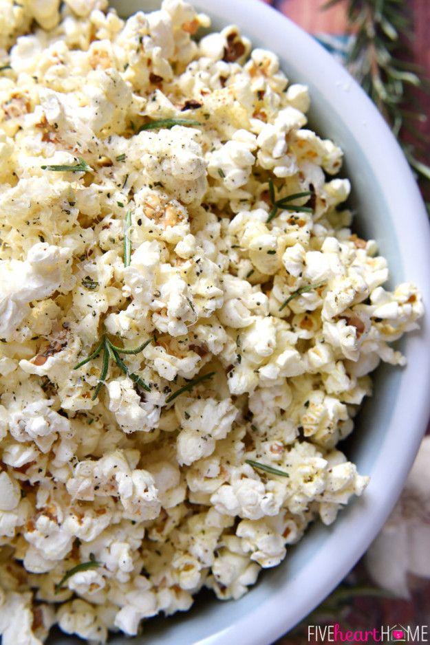 Parmesan Rosemary Popcorn | 18 Popcorn Recipes For Your Next Netflix Marathon