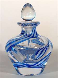 Blue & Crystal Perfume Bottle