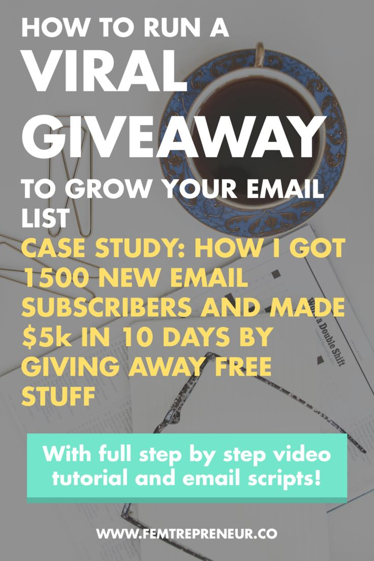 GROW YOUR BLOG with GIVEAWAYS... - Case Study: How to use Viral Giveaways to Grow Your Email List (1500 new…