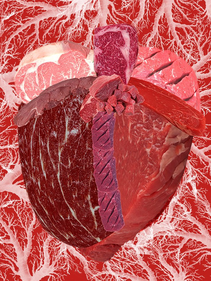 """Meat Heart I (Raw) by Kim-Lee Kho Digital mixed media, pigment print on hot press paper 36"""" x 24"""" (image size 24"""" x 18""""), edition of 3, $385. each Also available: 11 x 8.5"""", edition of 15, for $25. each Contact me here or even better via my website www.kimleekho.ca if interested."""