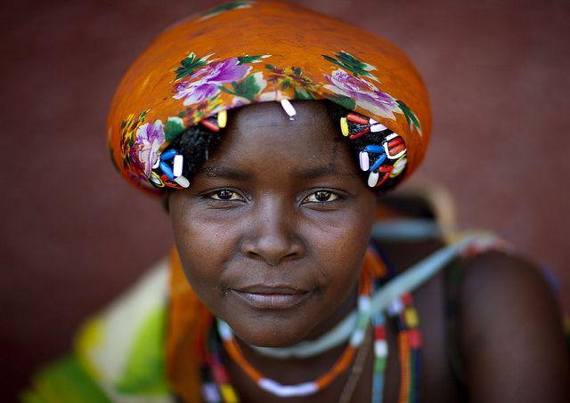 Africa    Marianne, Mudimba woman in Opuwo, Namibia, close to the Angolan border   © Eric Lafforgue